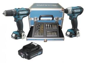 SET 2 AVVITATORI 10,8 V CON 3 BATTERIE E ACCESSORI - CLX202SAX2 MAKITA